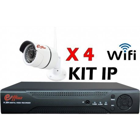 4EFXIP25210W. KIT CCTV IP WIFI 4 COMPACTAS