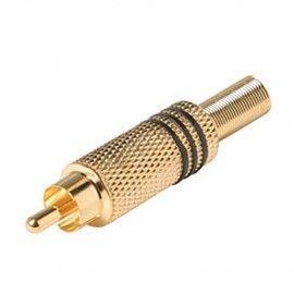 IZ-558. Conectores RCA macho de tornillo Pack 10u