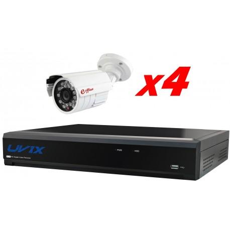 4EFX254CM. KIT CCTV 4 COMPACTAS EXTERIOR
