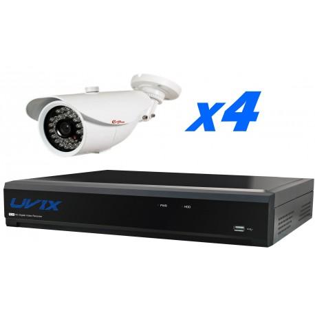 4UXHD25420. KIT CCTV AHD 2.0 4 COMPACTAS FIJAS