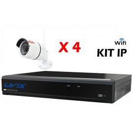 4UXIP25220W. KIT CCTV IP WIFI 4 COMPACTAS