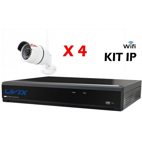 4EFXIP25220W. KIT CCTV IP WIFI 4 COMPACTAS