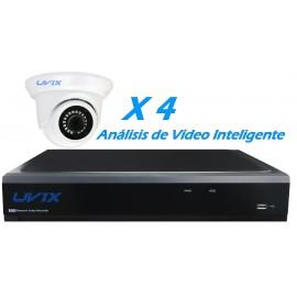 4UXIP22520. KIT CCTV IP 4 DOMOS