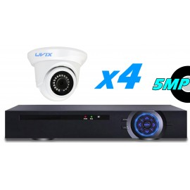 4EFX22550. KIT CCTV 4 CAMARAS DOMOS FIJAS 5MP
