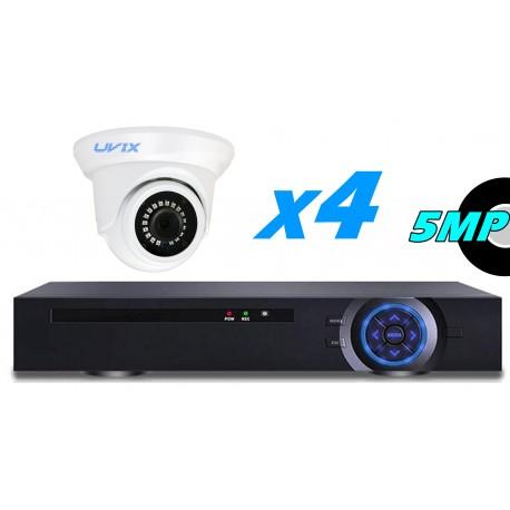 4UX22550. KIT CCTV 4 CAMARAS DOMOS FIJAS 5MP