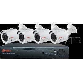 4UX25413. KIT CCTV 4 COMPACTAS AHD