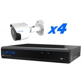 4UX25220. KIT CCTV 4 CAMARAS COMPACTAS 2MP