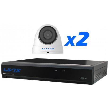 2UX22320. KIT VIGILANCIA CCTV 2 CAMARAS DOMOS 2MP