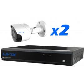 2UX25220. KIT CCTV 2 CAMARAS COMPACTAS 2MP