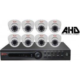 8EFXHD22720L. KIT CCTV AHD 8 DOMOS VARIFOCALES