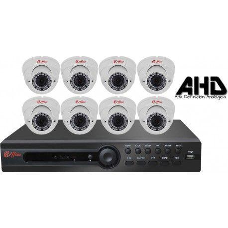 8EFXHD22113. KIT CCTV AHD 8 DOMOS INFRAROJOS