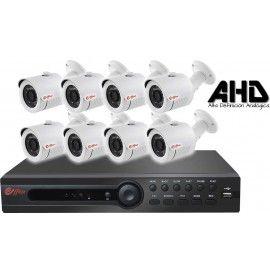 8EFXHD25410. KIT CCTV AHD 8 COMPACTAS