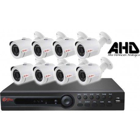 8EFXHD25410. KIT CCTV AHD 8 COMPACTAS AHD